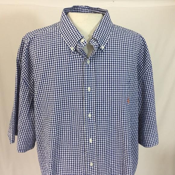 1cd0aa6ea Ralph Lauren 4XL Tall Short Sleeve Shirt Gingham